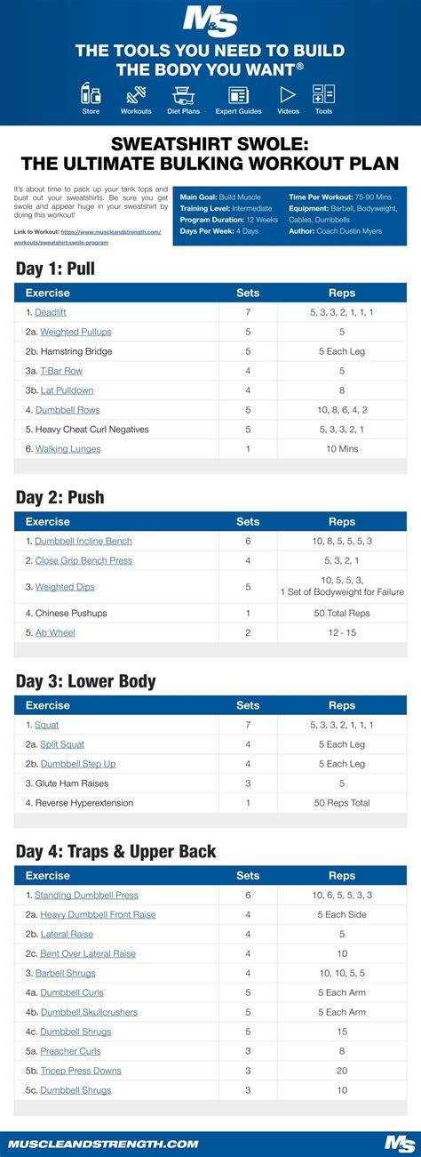 best bulking workouts bulking workout routines eoua