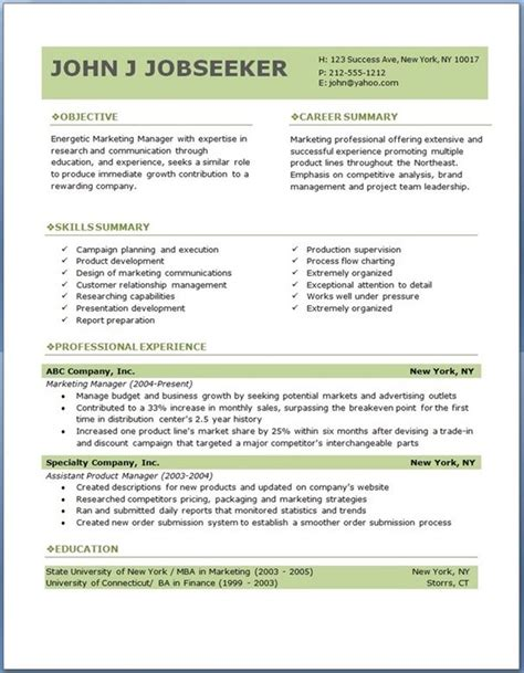 eco executive level resume template career