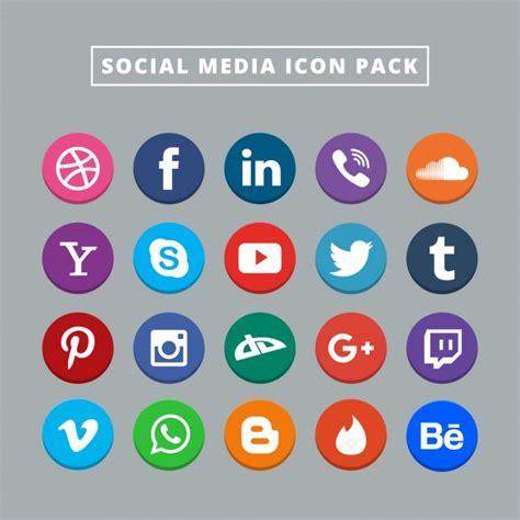 Free Social Media Icons Twenty Social Media Icons Vector Free