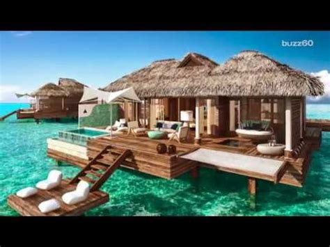 bali  caribbean   overwater bungalows  youtube