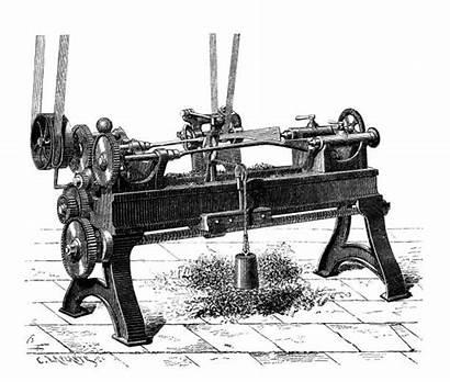 Lathe Clip Illustrations Antique Vector