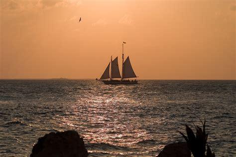 Key West Sailboat by Key West Sailboat Sunset Matthew Paulson Photography