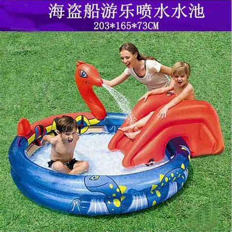 en plastique piscine avec toboggan promotion achetez des en plastique piscine avec toboggan