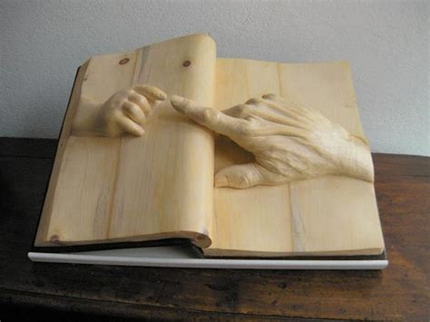 Wooden Book by Intricately Carved Wooden Books