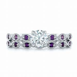 custom diamond and amethyst engagement ring 102319 With wedding rings with amethyst