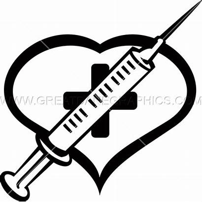Needle Heart Medical Clipart Ready Production Transparent