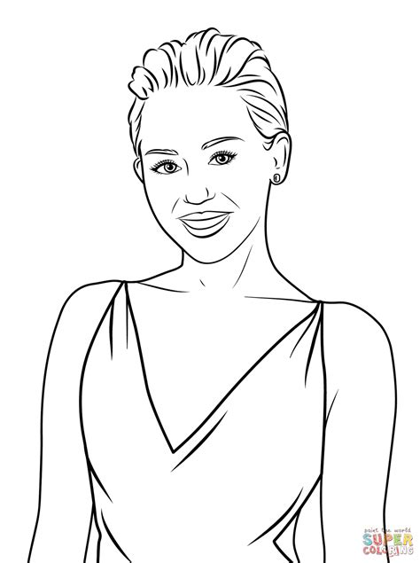 miley cyrus coloring pages