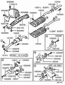 Exhaust Pipe  U0026 Muffler For Mitsubishi Pajero  Montero V24w
