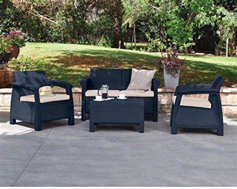 keter corfu rattan sofa outdoor garden furniture