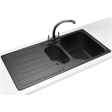 kitchen sinks and taps franke calypso propack cog 651 fragranite graphite sink 6057