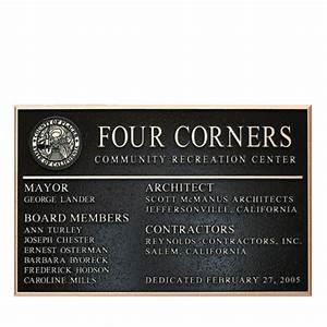 Raised letters bronze plaque bronze plaques for Letter plaques