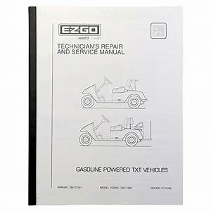 Ezgo Txt Gas Golf Cart Service Manual  1997