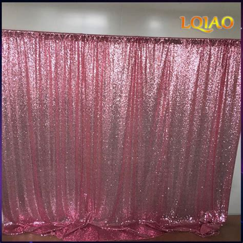 Photo Backdrop by 10x10ft Pink Gold Chagne Sequin Fabric Backdrop Wedding