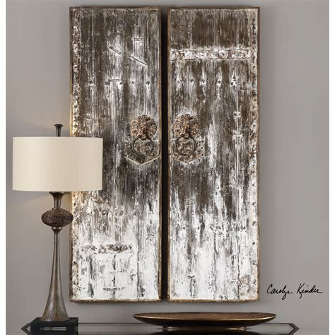 That aren't another gallery wall. Uttermost Alternative Wall Decor Giles Aged Wood Wall Art ...