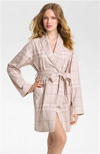 burberry check robe in beige nude lyst With robe bébé burberry