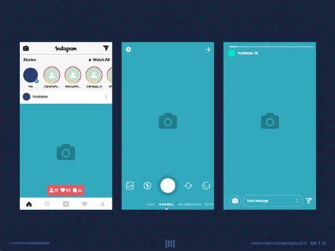 instagram stories design psd ai  psds sketch app
