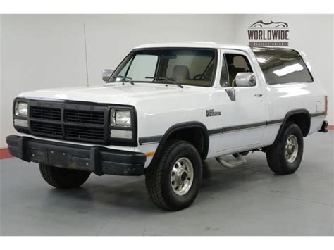 where to buy car manuals 1992 dodge ramcharger interior lighting 1992 dodge ramcharger for sale classiccars com cc 1167385