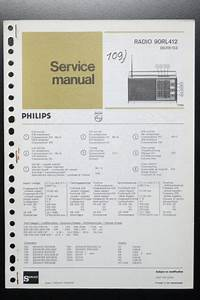 Philips Radio 90rl412 Original Service Manual  Guide
