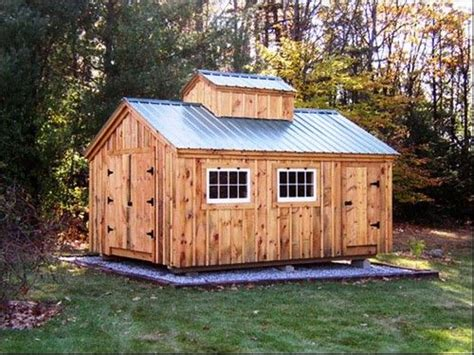 diy plans  sugar shack storage shedcabin yard