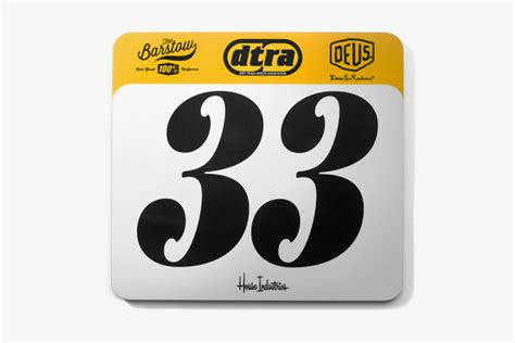 House Industries Custom Dtra Motocross Number Plates