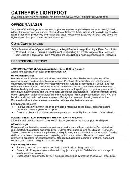 office manager resume template slebusinessresume