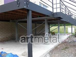 art metal structures et terrasses maisons pinterest With terrasse sur pilotis metal