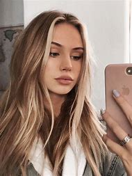Natural Blonde Highlights in Brown Hair