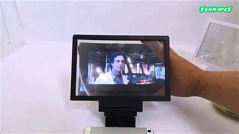 ampliador de pantalla celular tipo lupa soporte youtube