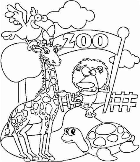 preschool zoo coloring pages  print