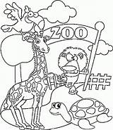 Coloring Zoo Pages Printable Animals Animal Preschool Colouring Kindergarten Coloring4free Ausmalbilder Sheets Tiere Funny sketch template