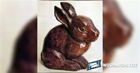 bunny carving wood carving patterns woodarchivist