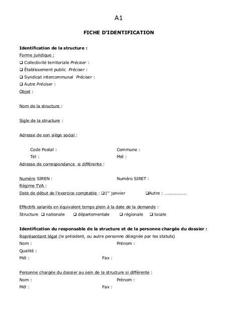 total adresse si鑒e social dossier de demande de subvention type 1