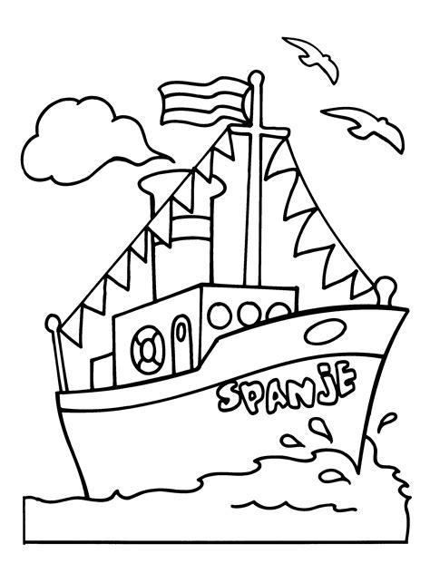 Kleurplaat Boot by Kleurplaten