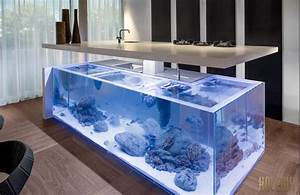 cuisine design aquarium With plan cuisine ilot central