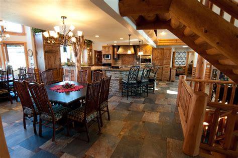 Kitchen Slate Tile Flooring  Craftsman  Dining Room
