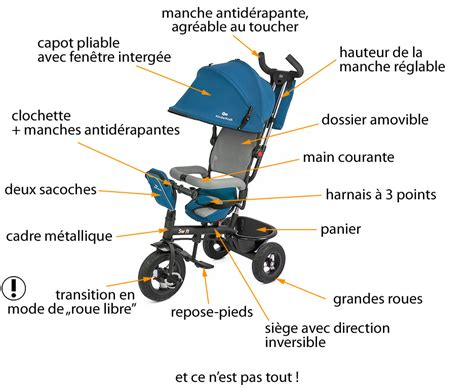 siege tournant trike poussette transformable en vélo tricycle
