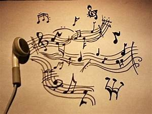Drawed music notes, some earphone, voilá! By Nina Peters ...