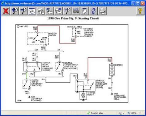1990 Geo Prizm Engine Diagram by 1990 Geo Prizm Starter I A Battery And New