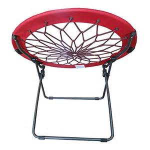 round bungee chair red folding comfortable lightweight