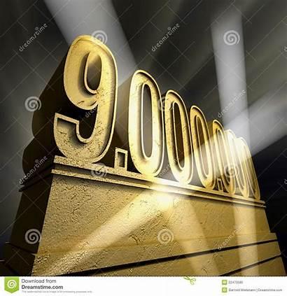 Million Nine Number Golden Dreamstime