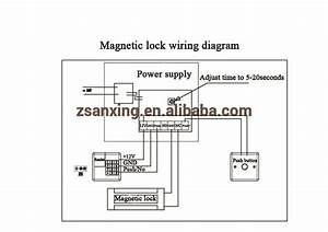 500kg 1200lbs  Magnetic Lock With Monitoring And Time