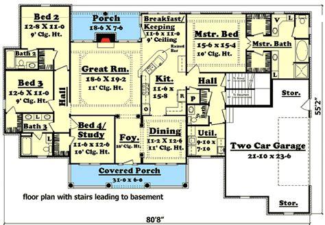elegant  bedroom house plan  options hz