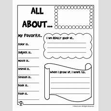 All About Me Printable Worksheet  Woo! Jr Kids Activities