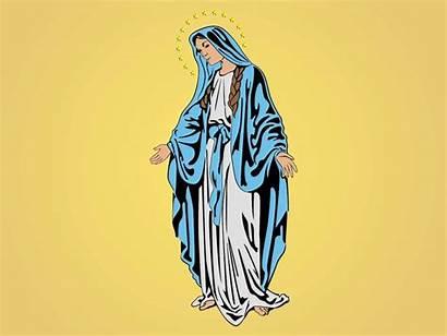 Mary Jesus Mother Vector Clipart Virgin Clip