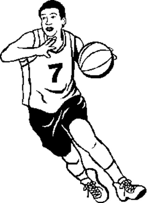 basketball player clipart black and white basketball cliparts