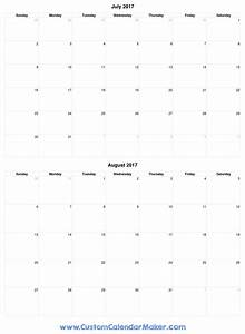 July 2017 Printable Calendars, pick a template and print!