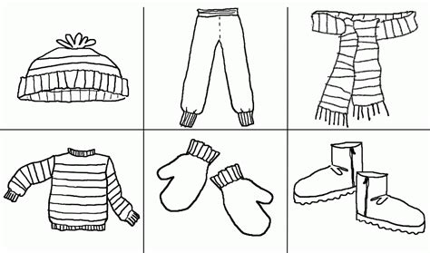 coloring cloth winter scarf coloring pages coloring home