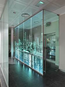 this technique combined with led from the edge of the glass panes favours the reflection and