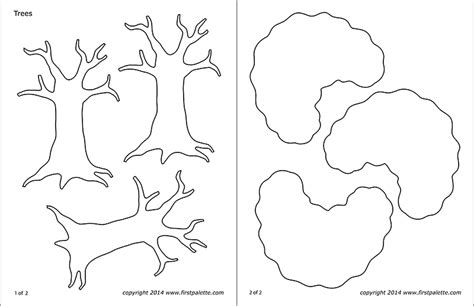 tree templates  printable templates coloring pages
