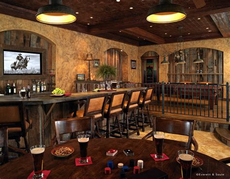 portafino mens club room rustic home bar orlando